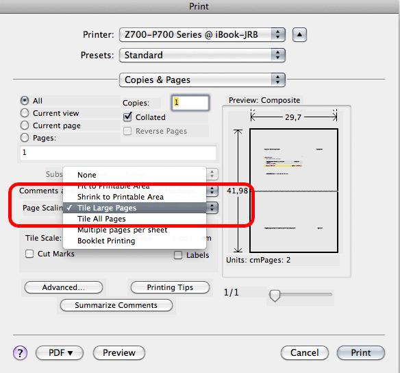 Print a big size (like a Post) PDF file | Adobe Acrobat
